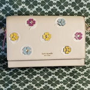 🌻NWT Kate Spade Cameron Spade Flower Applique